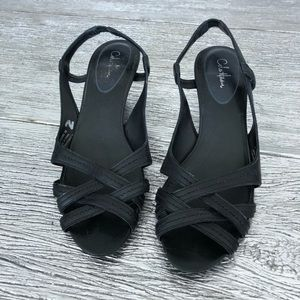 Cole Haan Black Nike Air sling back Sandals Size 9